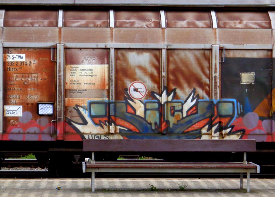 mobile graffito by Mittelfranke