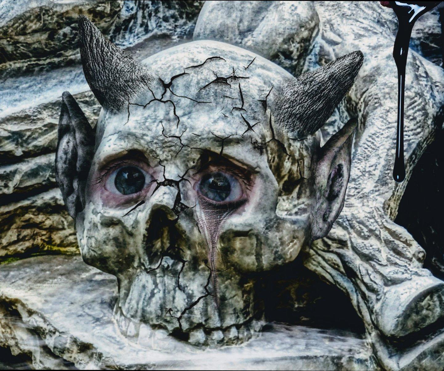 crying skull by Mittelfranke