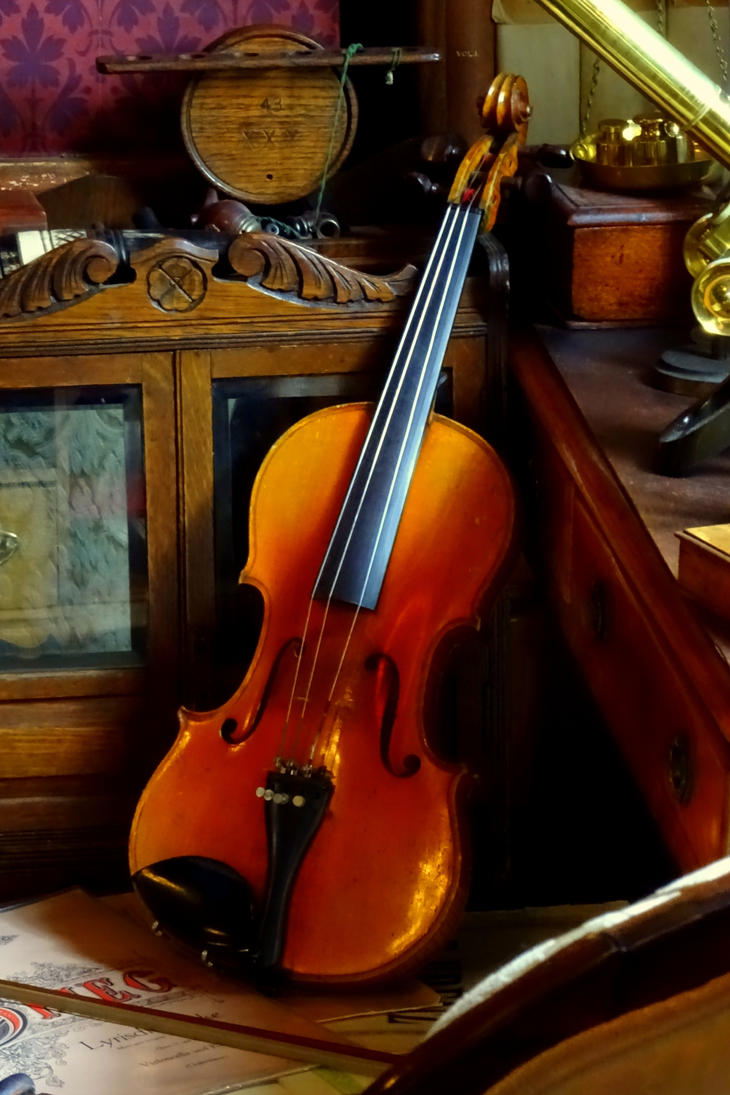 the violin by Mittelfranke