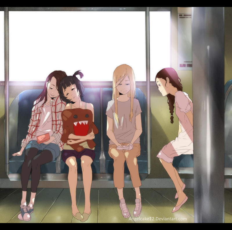 on the train by angelcake12
