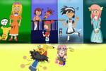 Ash's many crossdressings