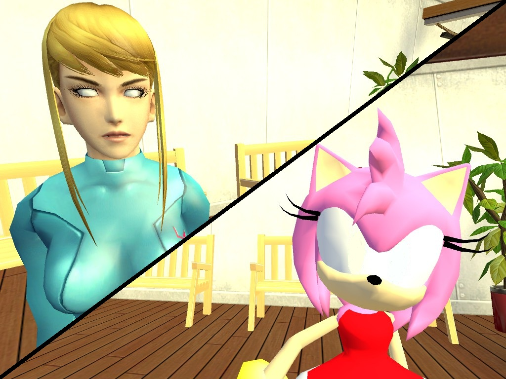 Samus And Amy Hypnotized by VG-MC