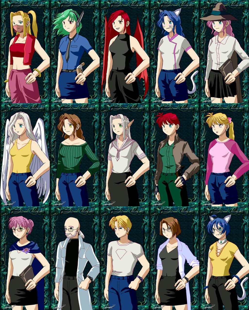 Anime Characters Creator : Anime character maker full body