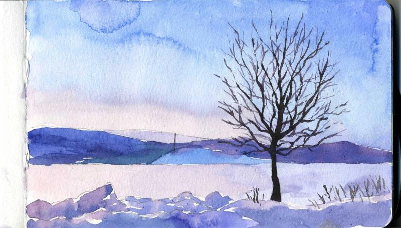 Winter Moleskine by Kuru-mo