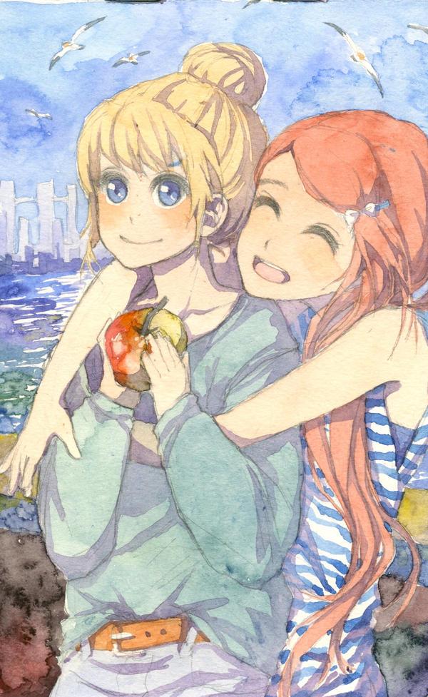 Friend's hug by Kuru-mo