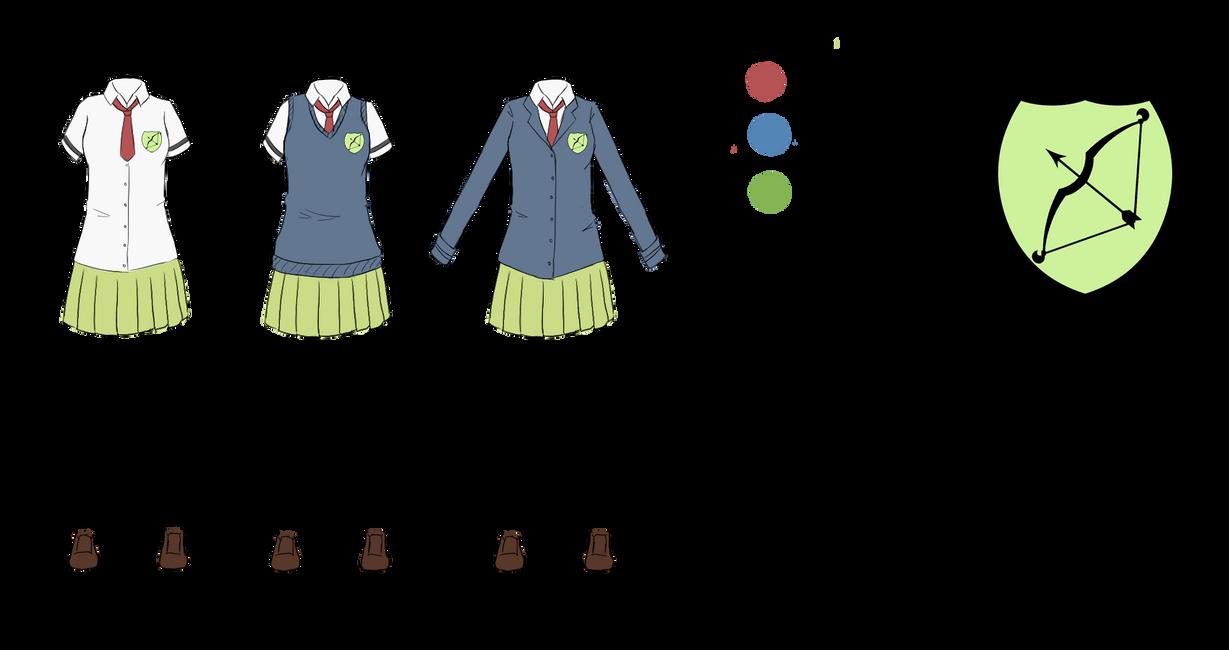 Yumiya Academy - girls uniforms by KattyHinata
