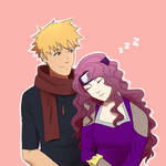 [HFV] Falling asleep on his shoulder by KeiARTx