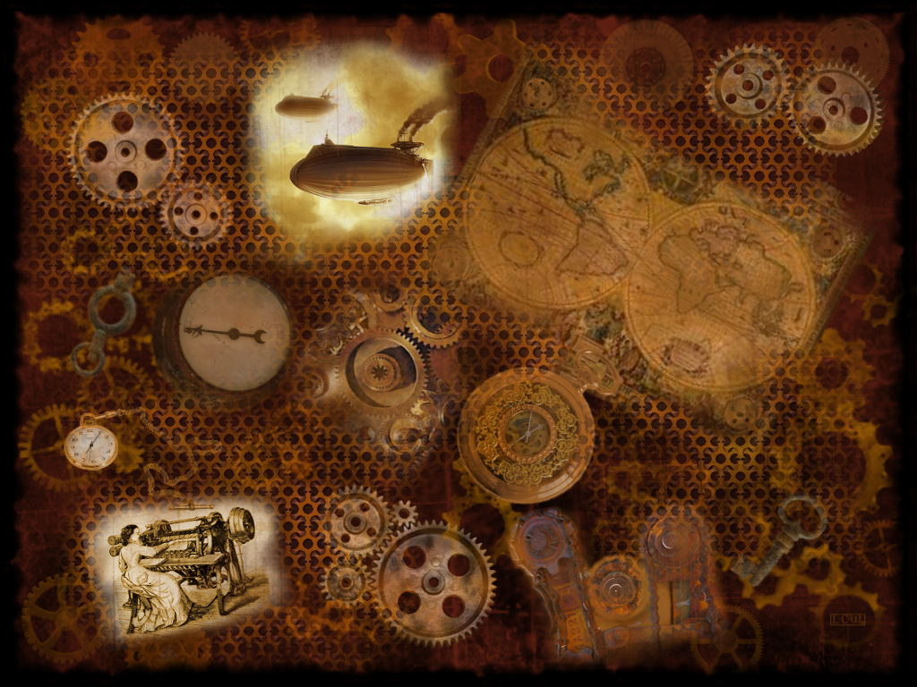 The Steampunk Collage by LunaMoon9