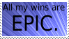 Epic Win Stamp by Davvrix