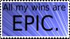 Epic Win Stamp by Davvrix