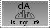 dA Is My Life Stamp by Davvrix