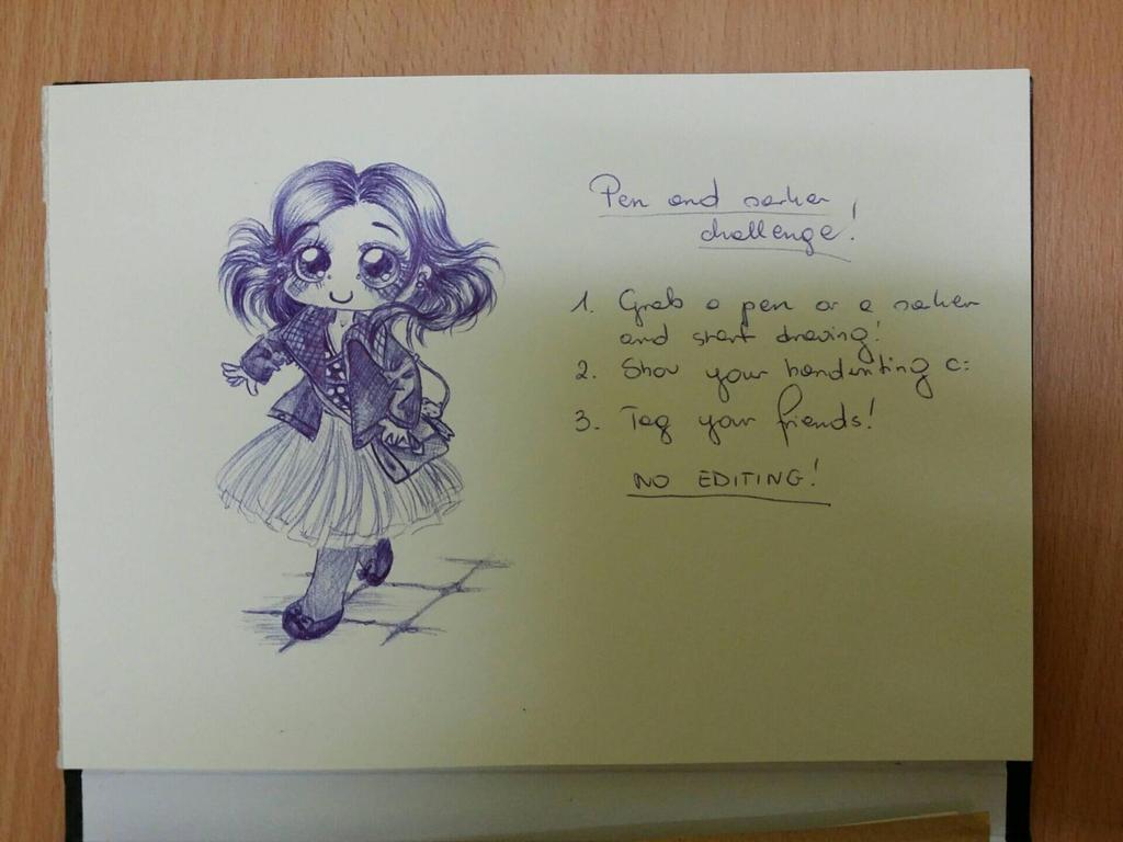 Pen challenge by Milena-Zaremba