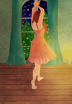 Dancing slowly in an empty room