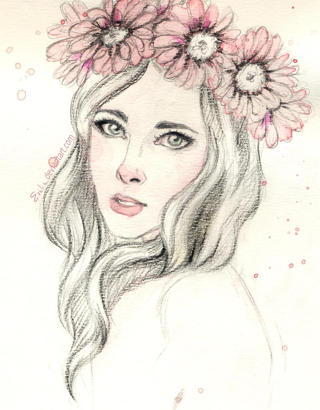 Pink flowers by Ezelie on DeviantArt