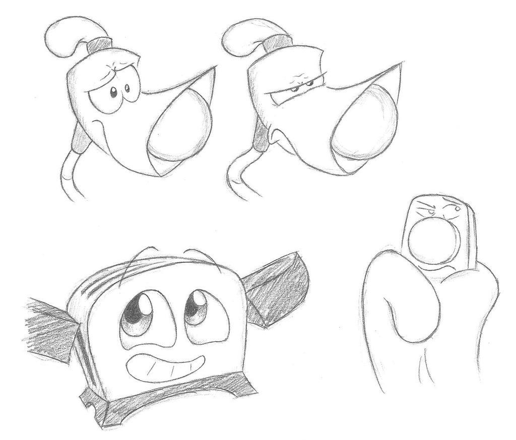 Quick sketch tblt doodles by smashedatoms on deviantart for The brave little toaster coloring pages
