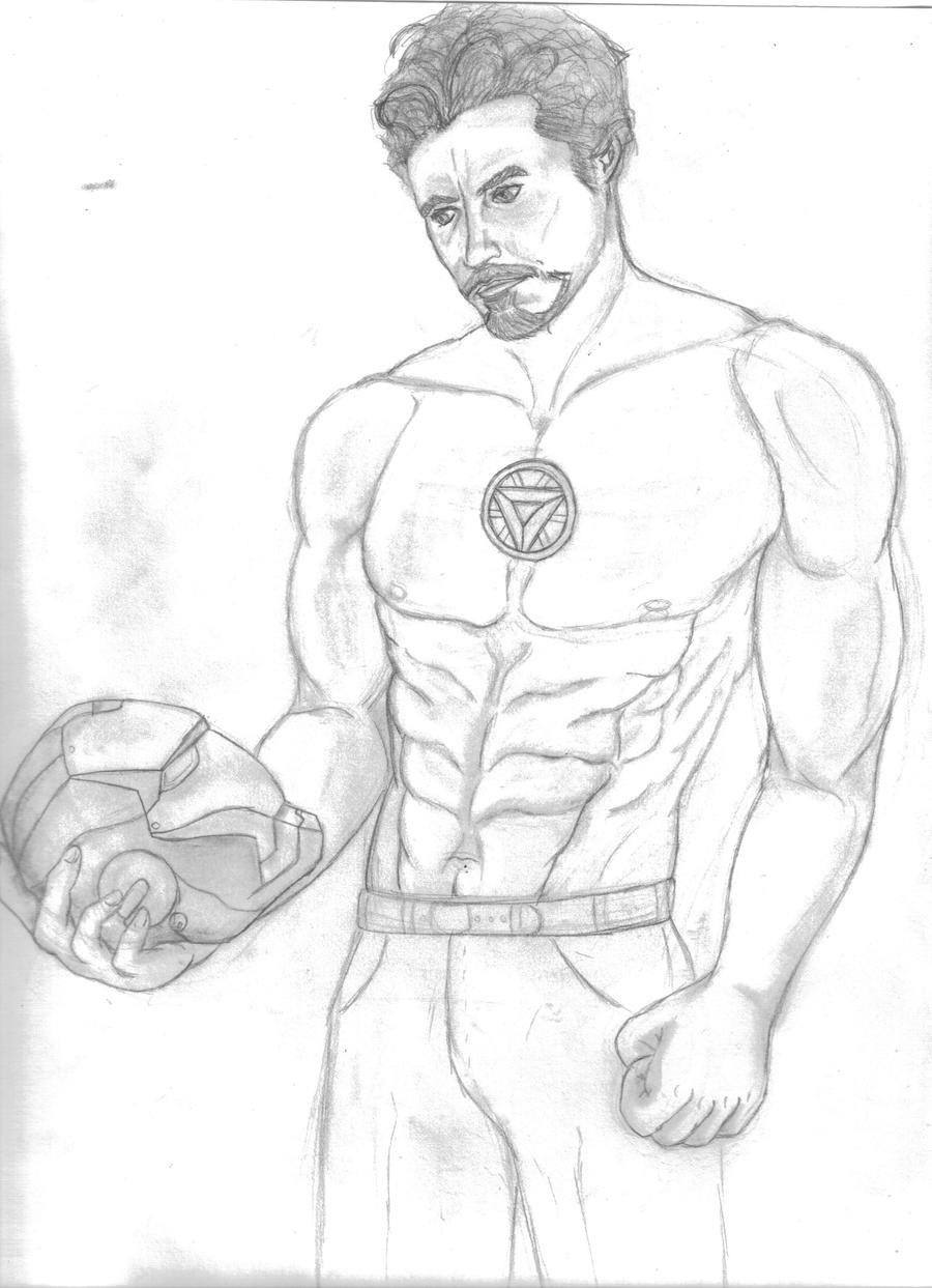 Tony stark sketch wip by stina8089 on deviantart for Tony stark coloring pages