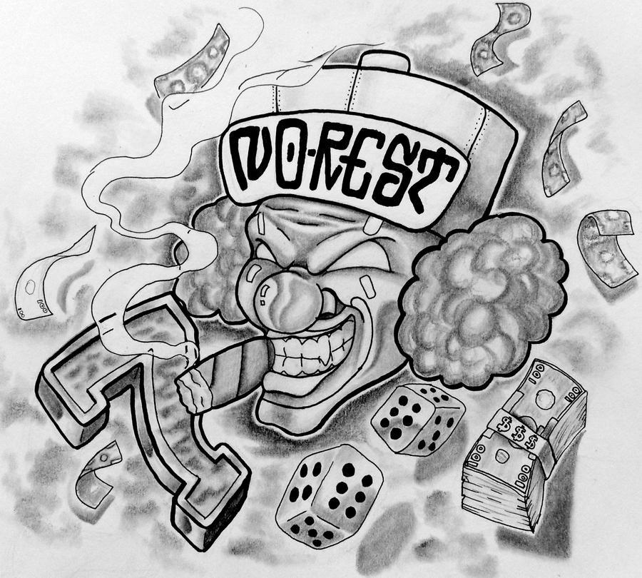 Gamemakertech Info Images Gangster Joker Drawings