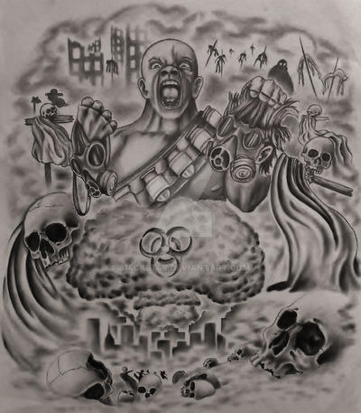 Apocalyptic Half Sleeve Tattoo Design Com By 814ck5t4r On Deviantart