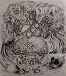 Apocalyptic Half Sleeve Tattoo Design (Com)