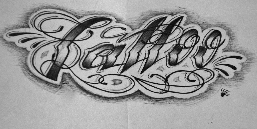 Tattoo lettering 1 by 814ck5t4r on deviantart for Grey tattoo writing