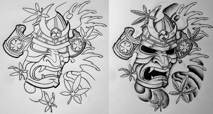 Line Work Design : Japanese tattoo art demon gallery
