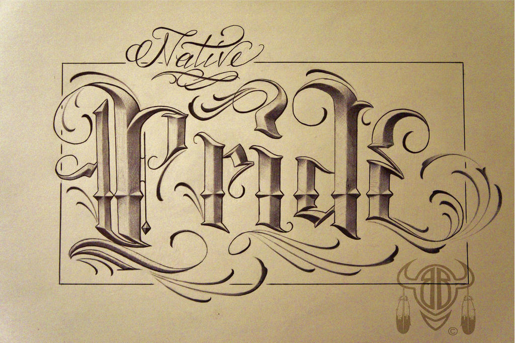 street shop script lettering native pride by 814ck5t4r on deviantart. Black Bedroom Furniture Sets. Home Design Ideas