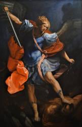 Saint Michael the Archangel Defeating Satan by 814CK5T4R