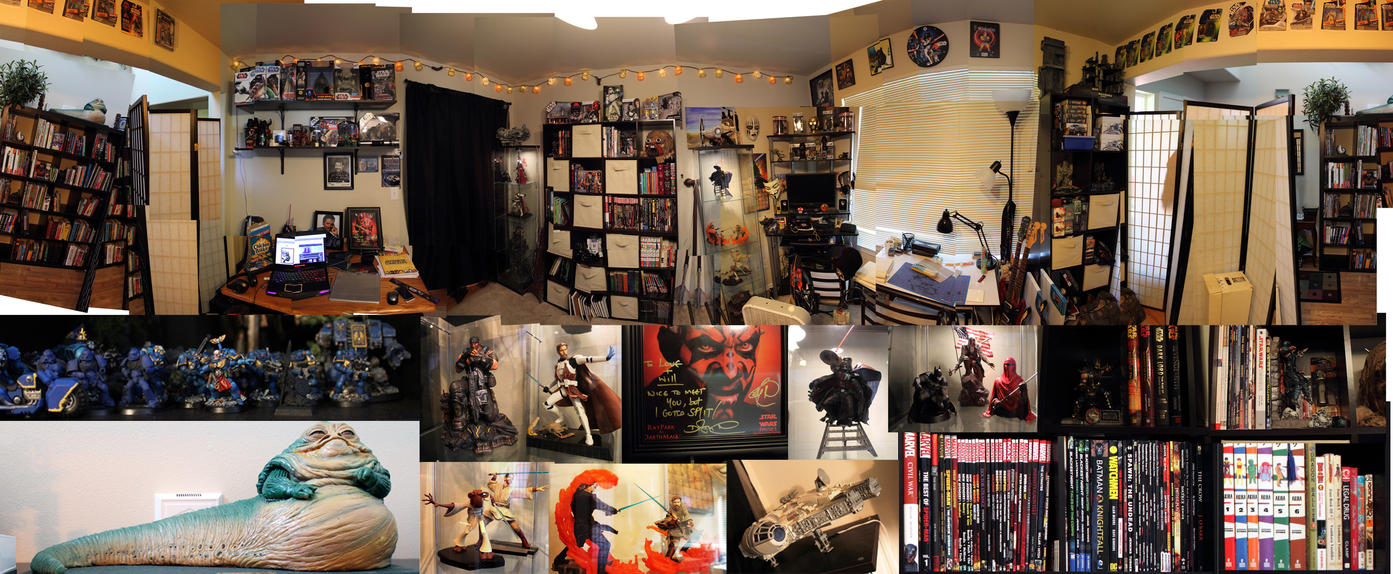 Man Cave Ideas Geek : View of the nerd cave art studio by warui shoujo