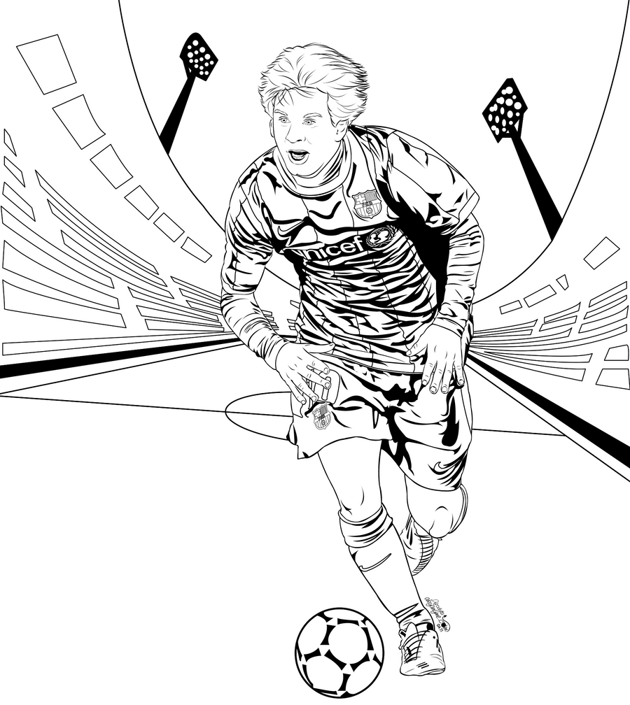coloring pages barcelona fc jersey - photo#22