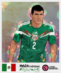 Stickers Brazil 2014: Maza Rodriguez - MEXICO by afrodytta