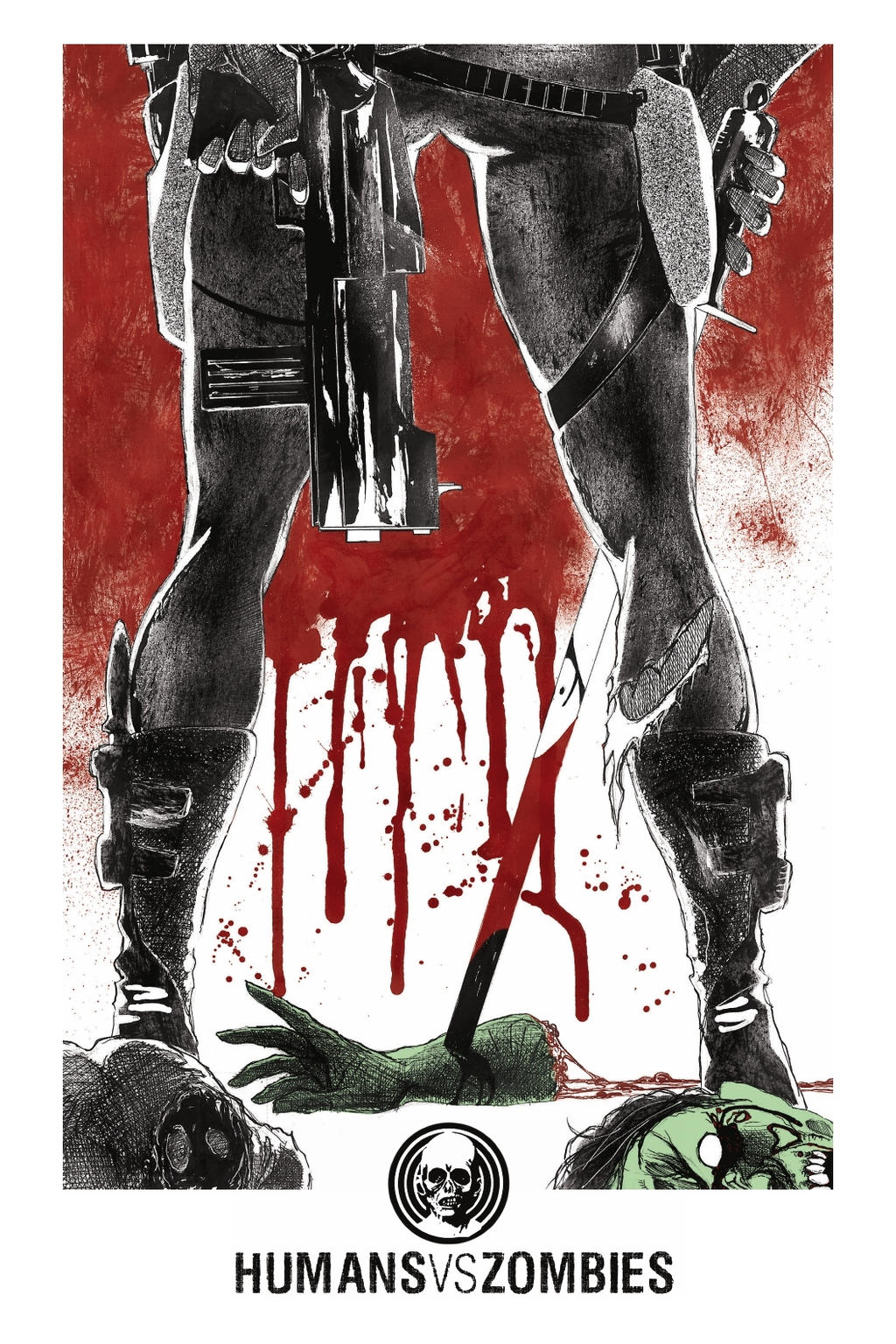 Final HVZ cover art by LoneFoxAndCub