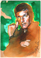 Adam West as Bruce Wayne by markmchaley