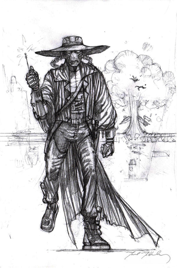 Cad Bane pencils by markmchaley