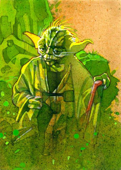 Yoda by markmchaley