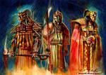 Mandalorian Deities by markmchaley