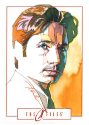 Fox Mulder by markmchaley