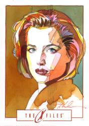 Dana Scully by markmchaley