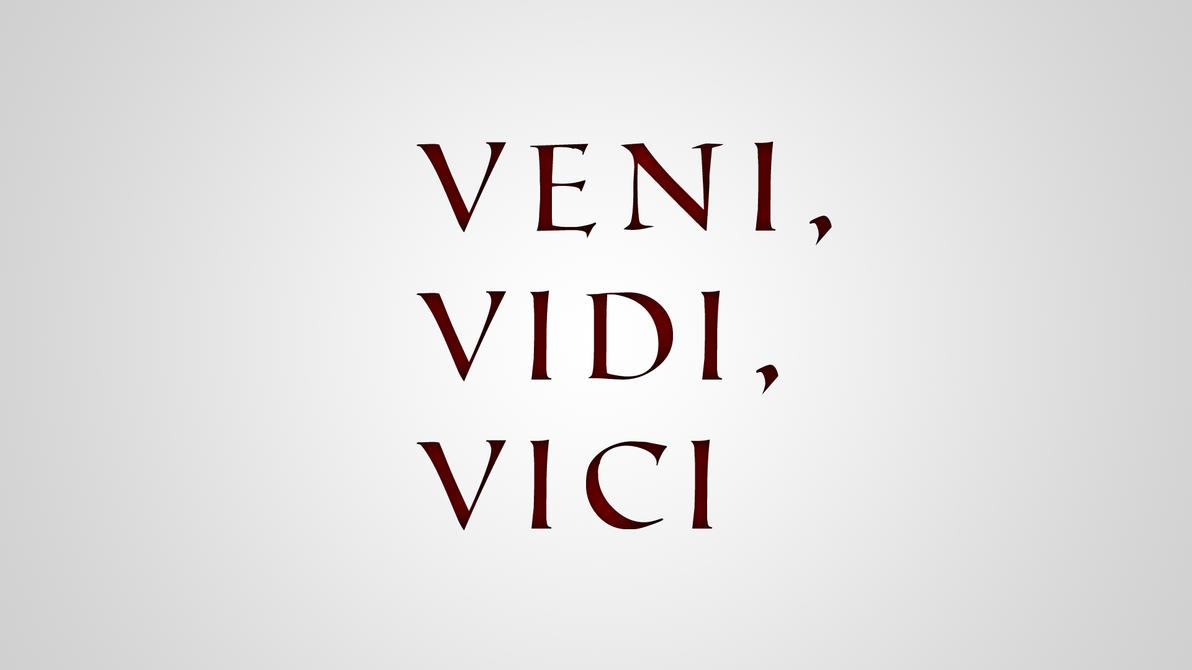 veni vidi vici by martinblaaberg on deviantart
