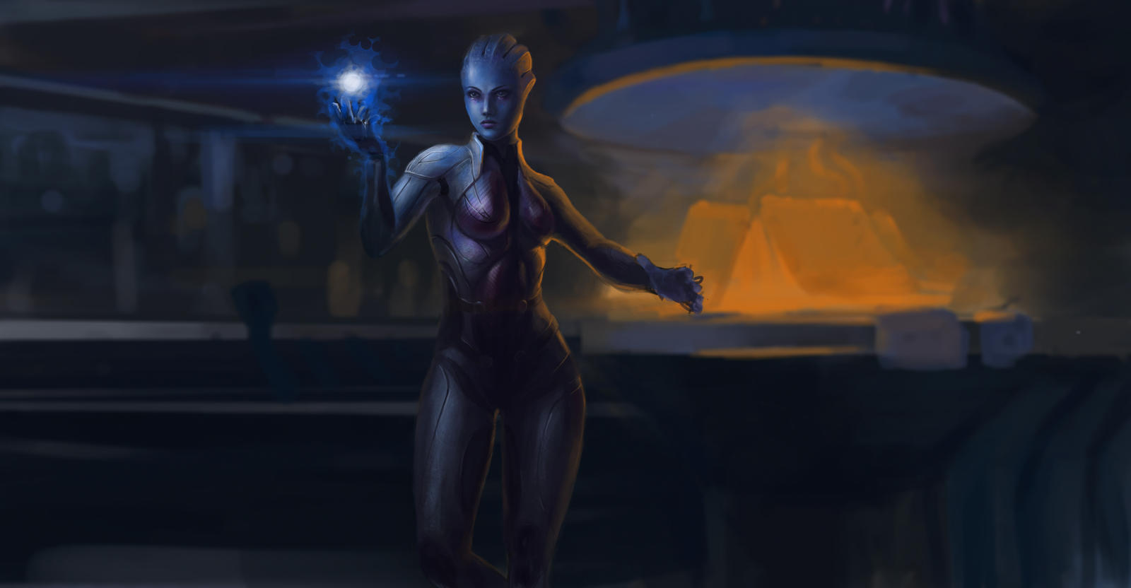 Liara? fan art by haosiliu235