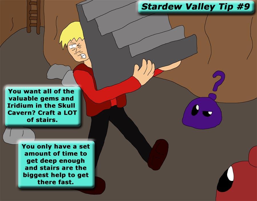 Stardew Valley Tip 9 - Staircases by SSBFreak