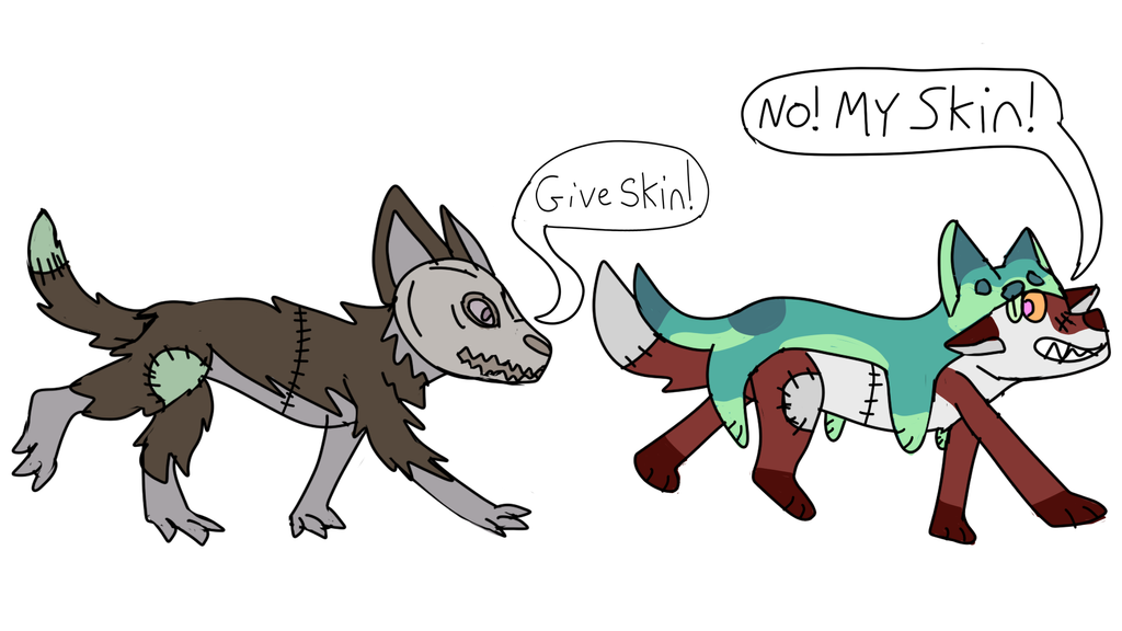 Skinwalker Darkky Wont Give Wendigo Darkky Skin by TanukiiTricks