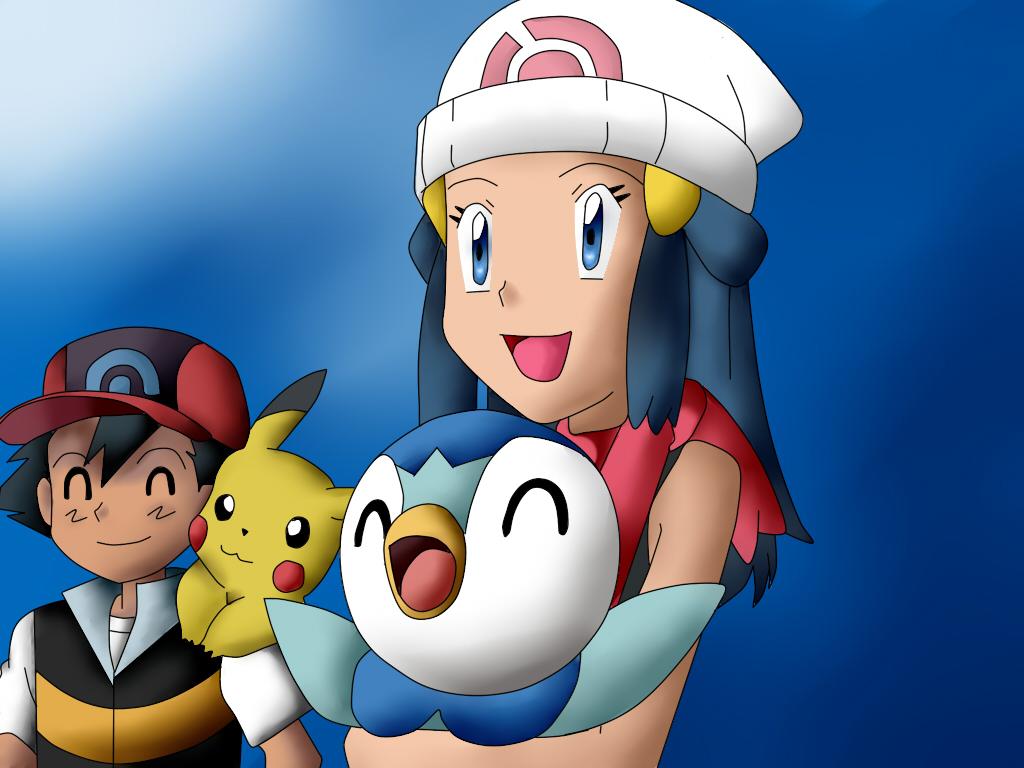 Pokemon Ash and Dawn