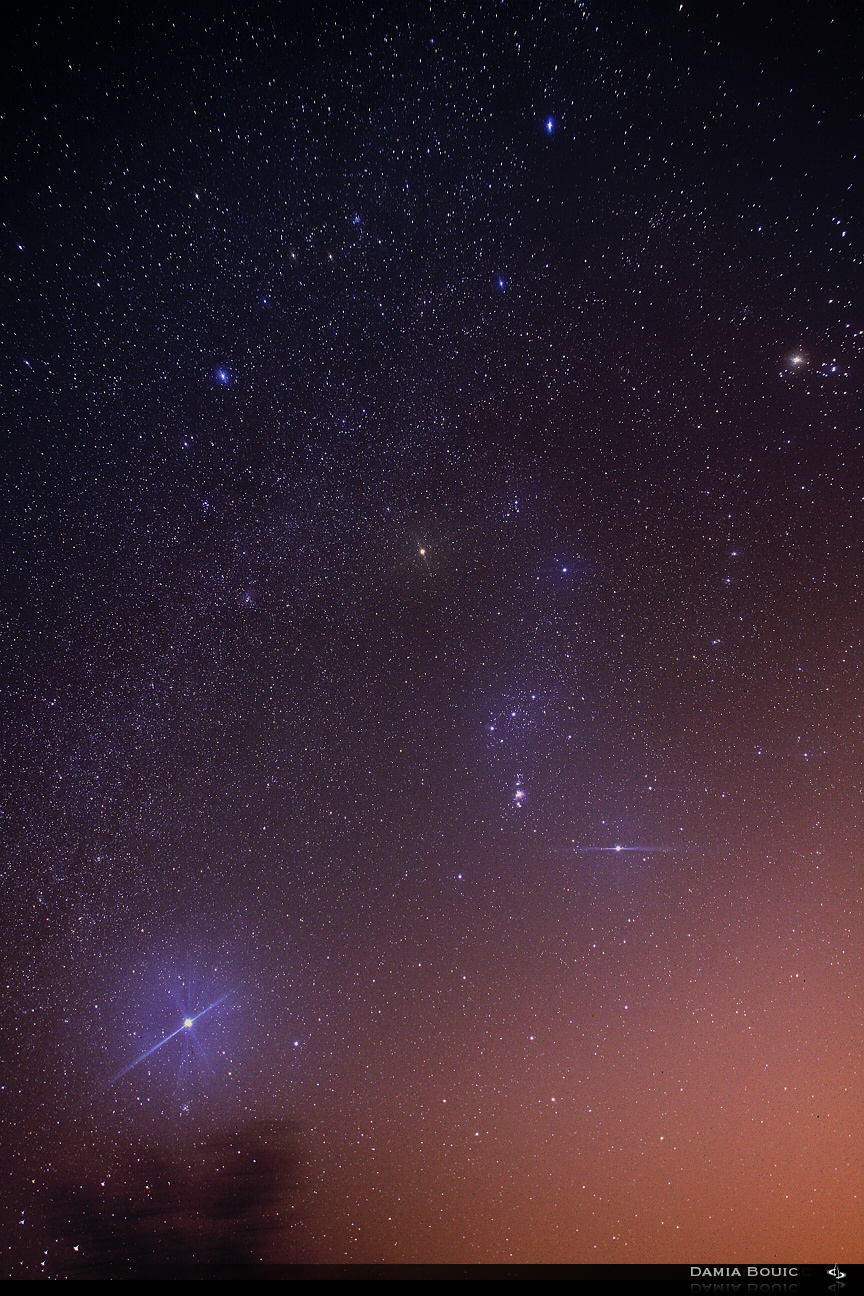 Orion and the Milky Way by SkyRings