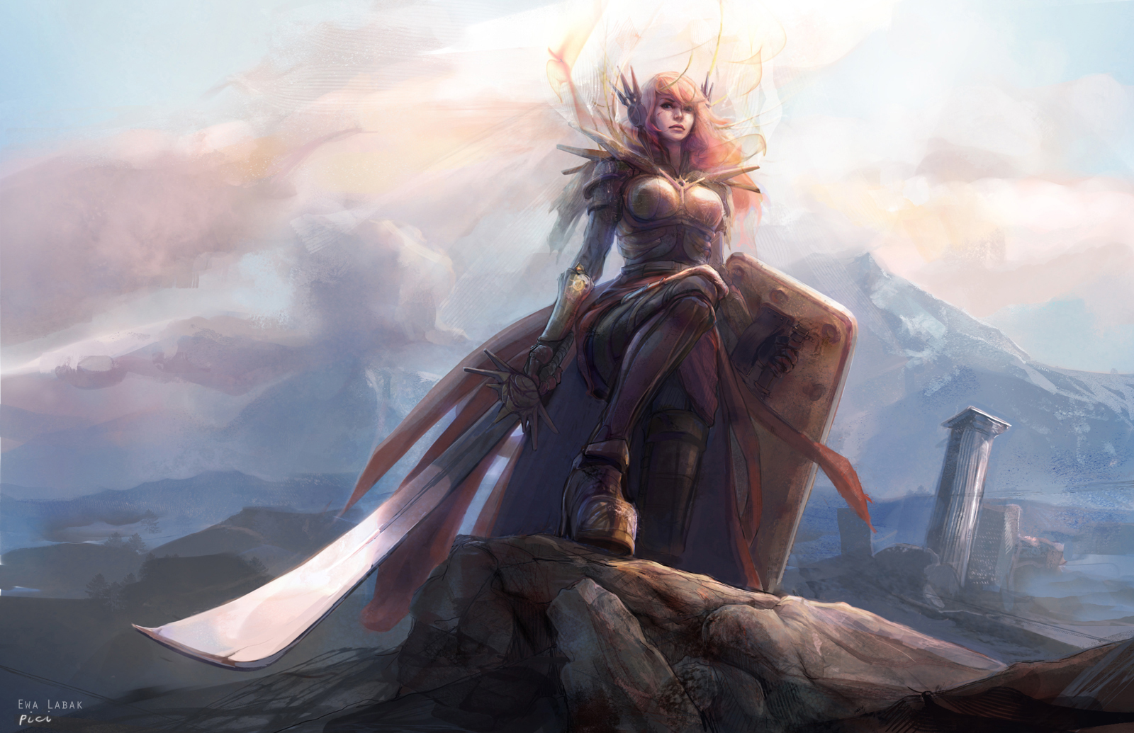 League of Legends - Leona by EwaLabak on DeviantArt