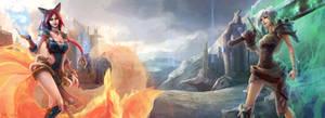 League of Legends - Foxfire Ahri and Riven