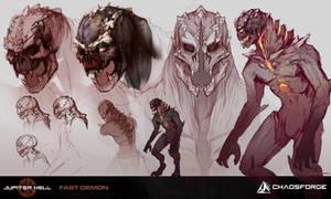 Jupiter Hell - Fast demon concept art by EwaLabak