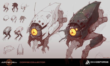 Jupiter Hell - Corpse collector concept art