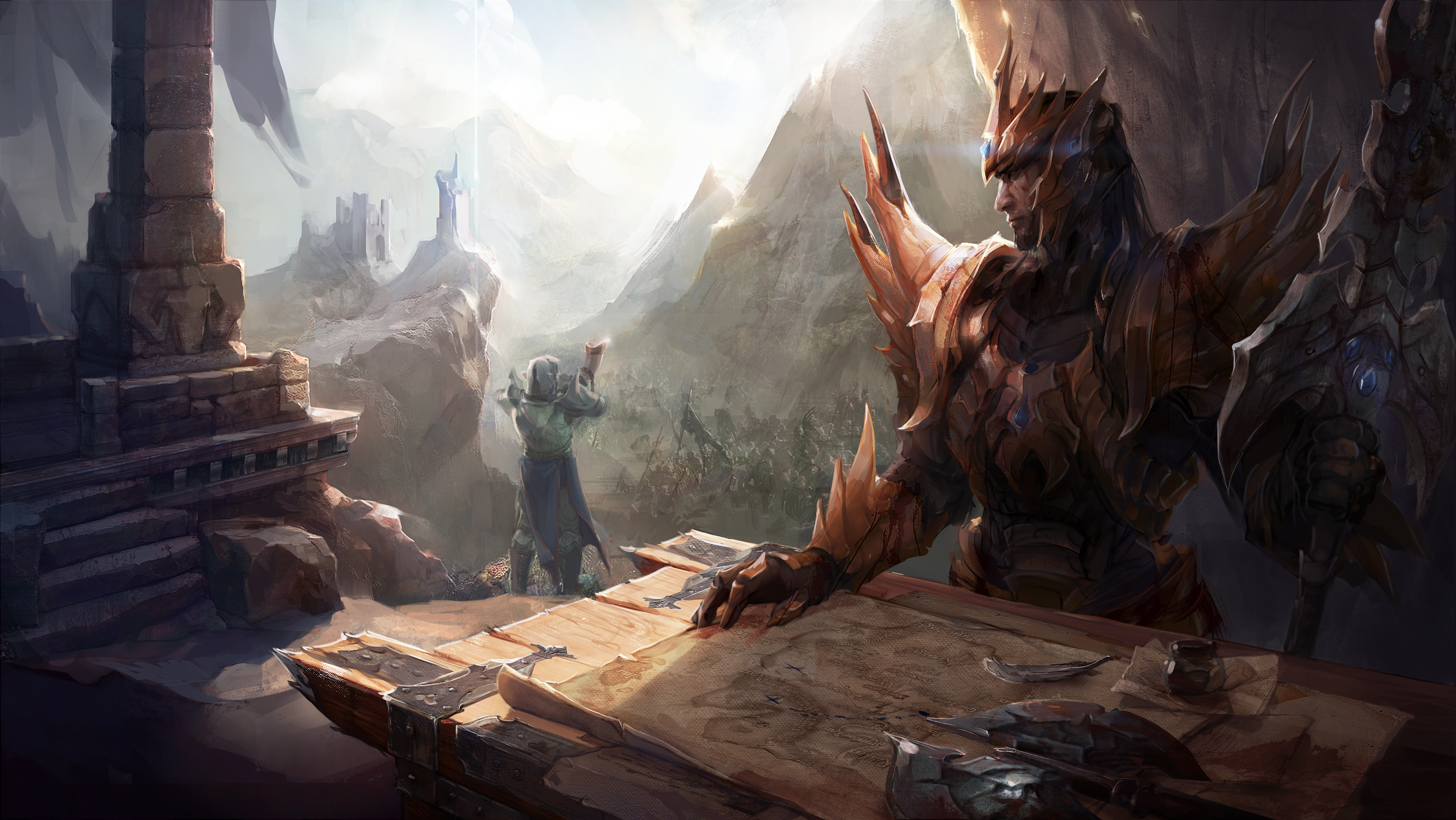 Jarvan scene for Jeremy Gaming Curios by EwaLabak