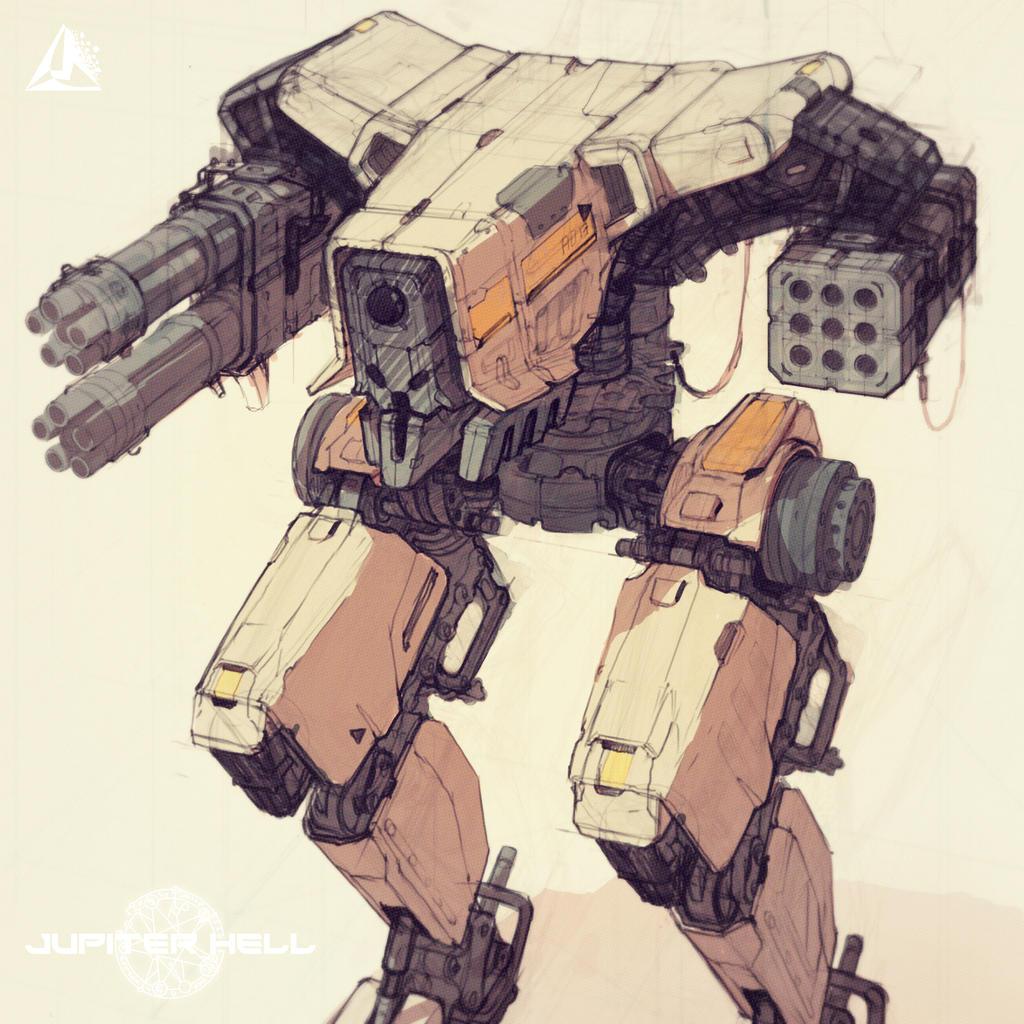Jupiter Hell - Security Mech sneak peek by EwaLabak