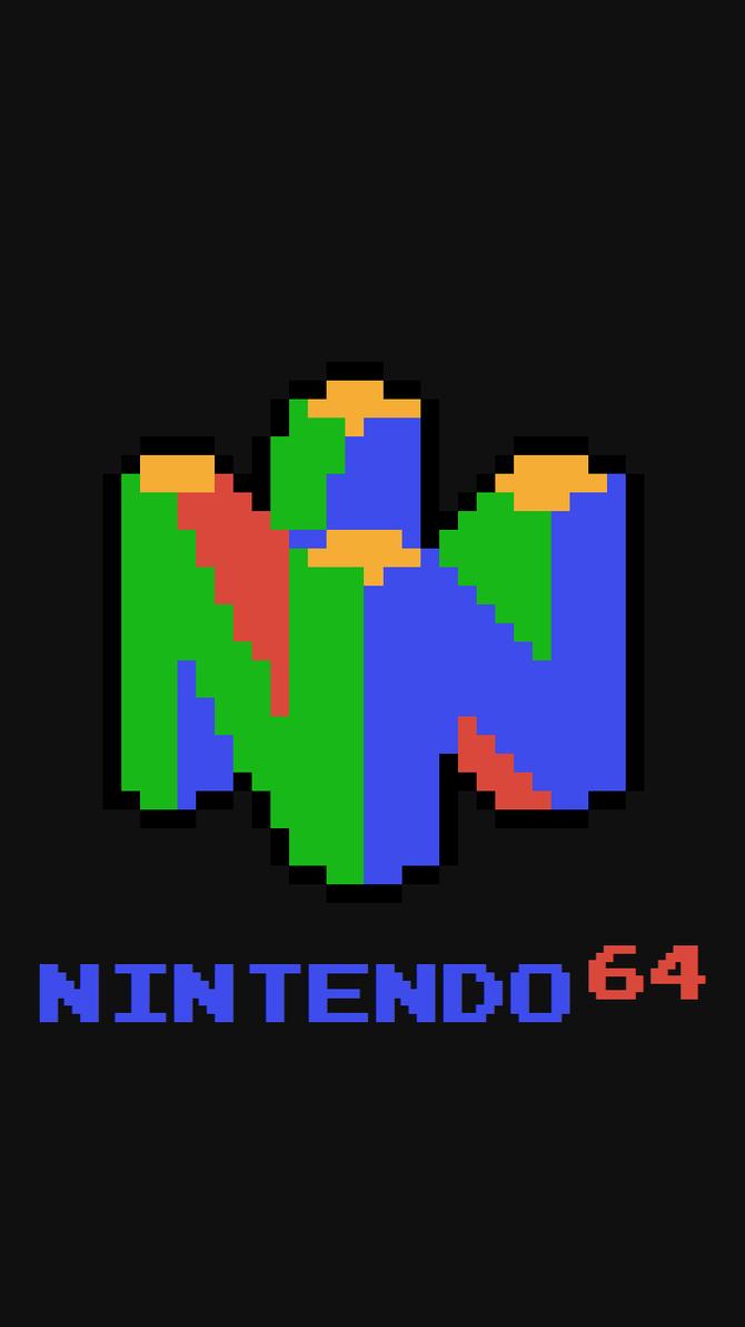 pixel art n64 title screen wallpaper by jaytcarter on